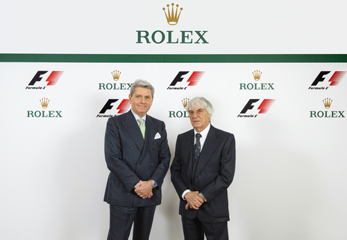 Rolex signs global partnership with Formula 1