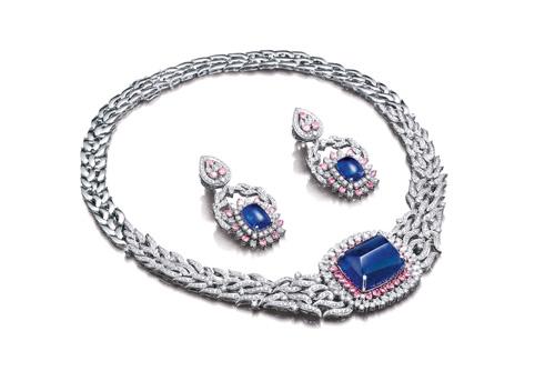 Tribhuvandas Bhimji Zaveri Tanzanite Diamond necklace