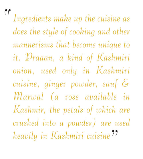 About kashmiri indian cuisine
