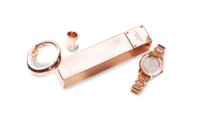 Michael Kors Gold fragrance and jewelry 2015