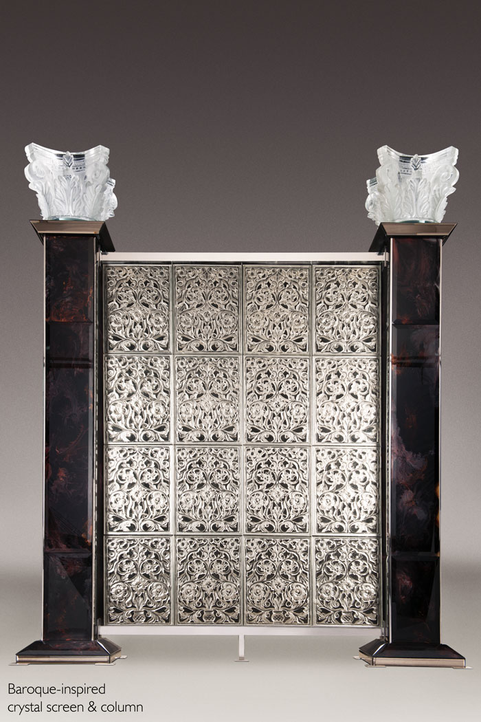 RIZO Baroque inspired imperial crystal screen