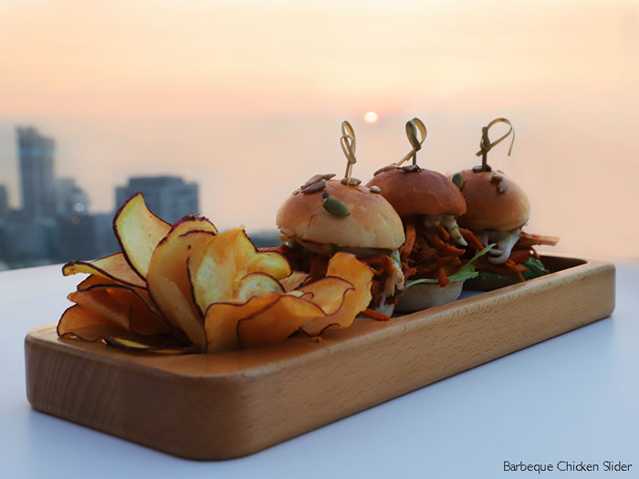 AER Bar & Lounge barbecue chicken sliders