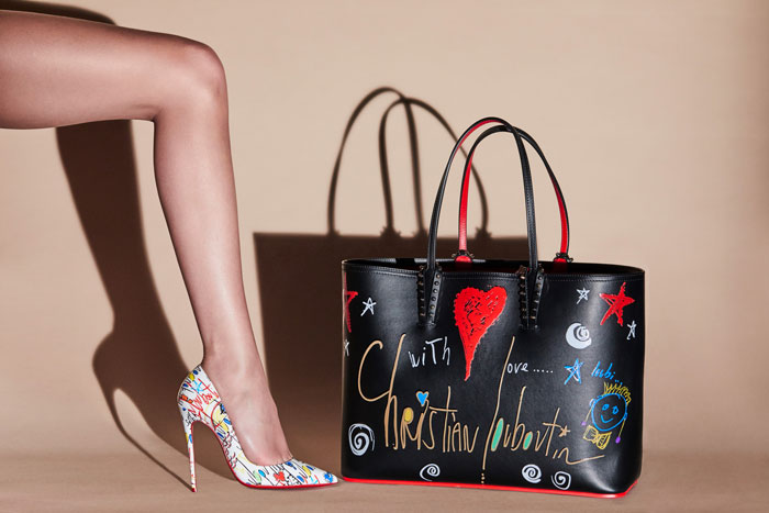 99c548d4a16 Christian Louboutin unveils Loubitag collection for Spring-Summer 2018