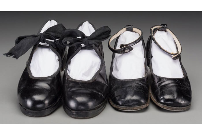 Shirley Temple Black tap dance shoes on auction
