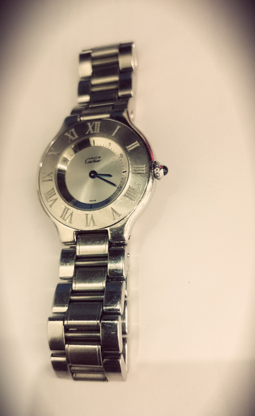 cartier old watch by luxury owners