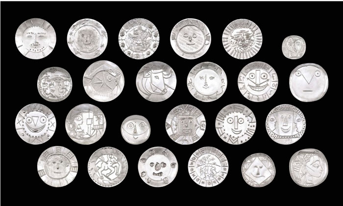 Picasso silver plates on auction by Sotheby's Hong Kong 2016