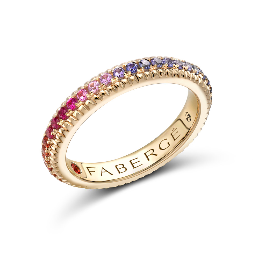 Fluted band by Faberge