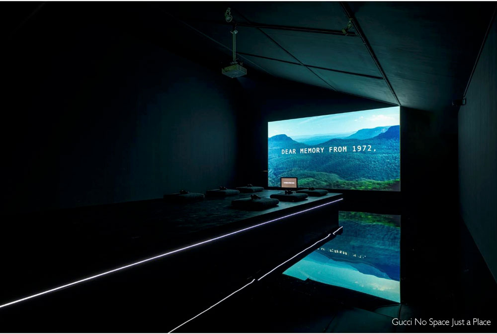Gucci No Space Just a Place exhibition