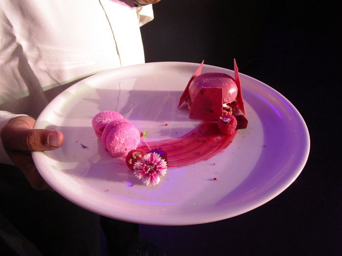 Ruby chocolate dessert at ITC Fabelle event