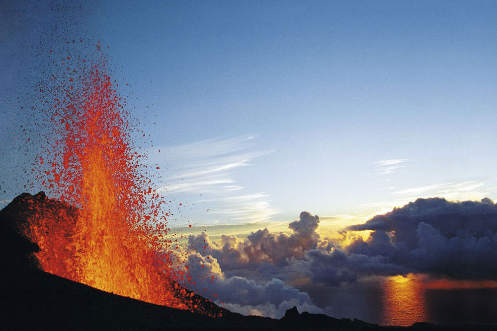 Volcanoes at Reunion Island France