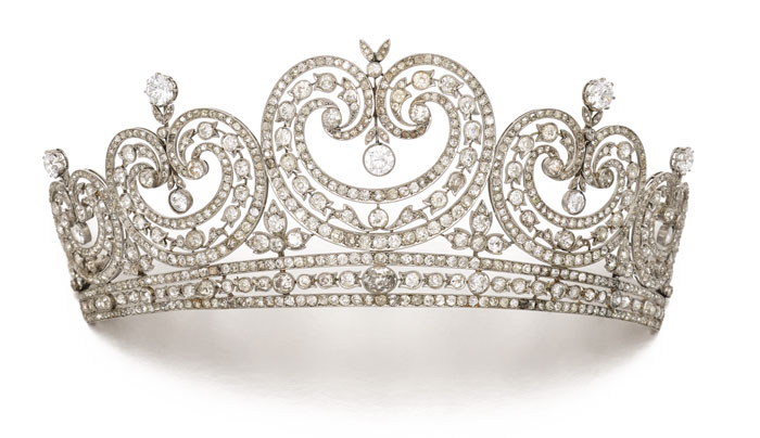 Diamond tiara on auction by Sotheby's London