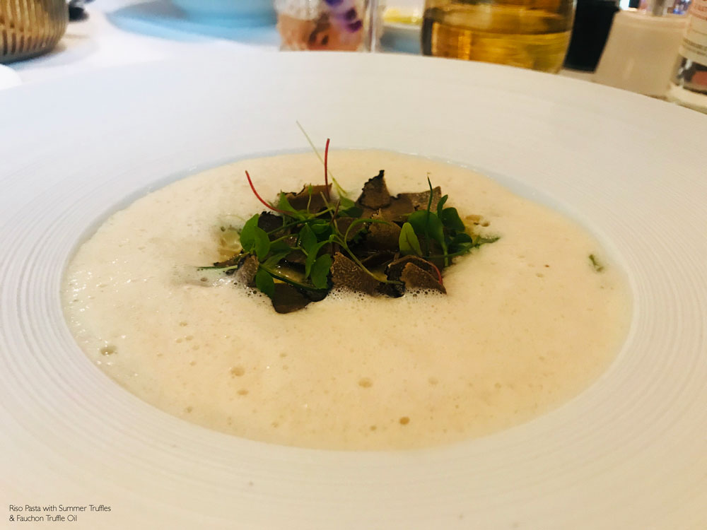 Grand Cafe Fauchon Paris Riso pasta with summer truffles