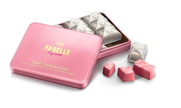 Ruby Gianduja chocolate by ITC Fabelle