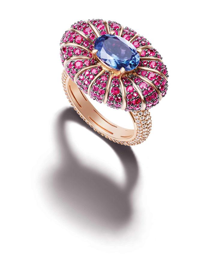 ruby tanzanite ring Zoya