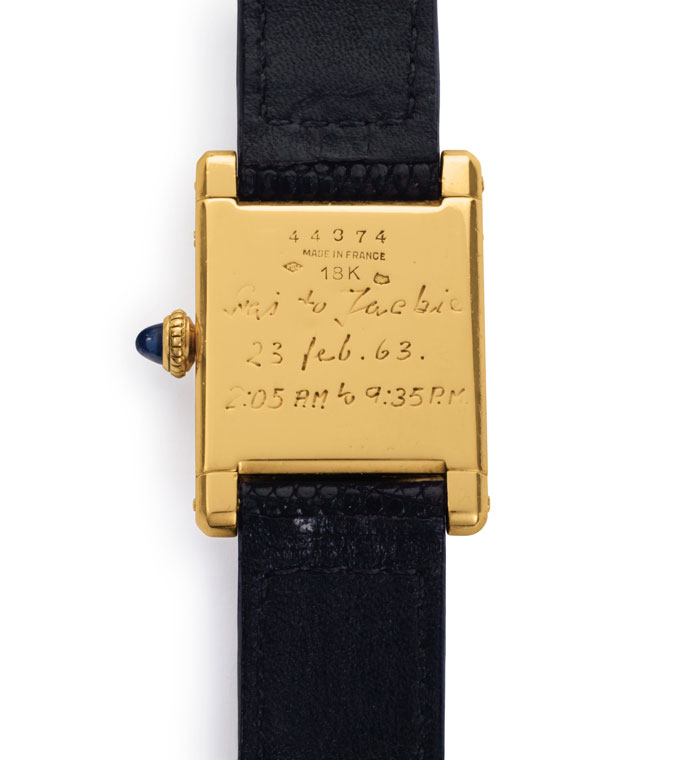 Jacqueline Kennedy Onassis Cartier Tank Back