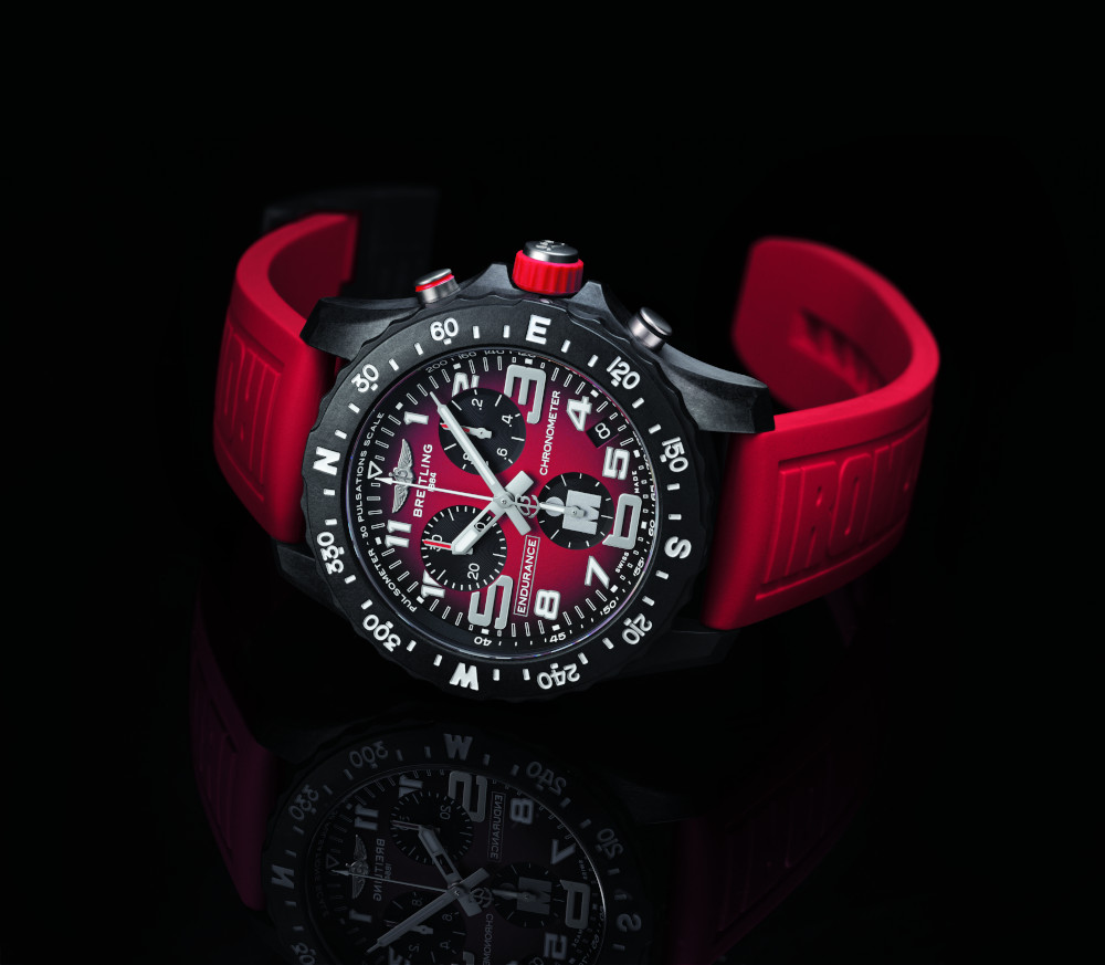 Ironman Endurance Pro watch red by Breitling