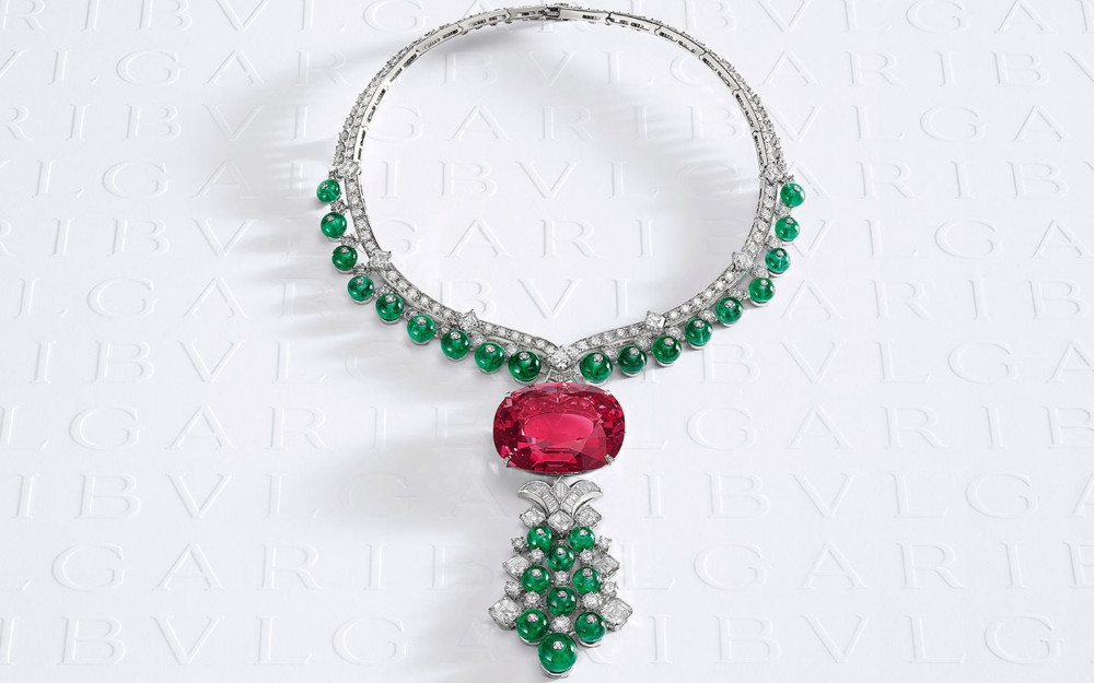 Bvlgari Magnifica High Jewelry 4th largest spinel necklace