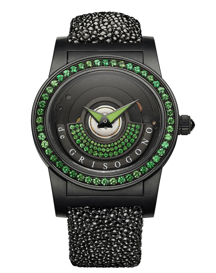 de Grisogono Tondo by Night timepiece green