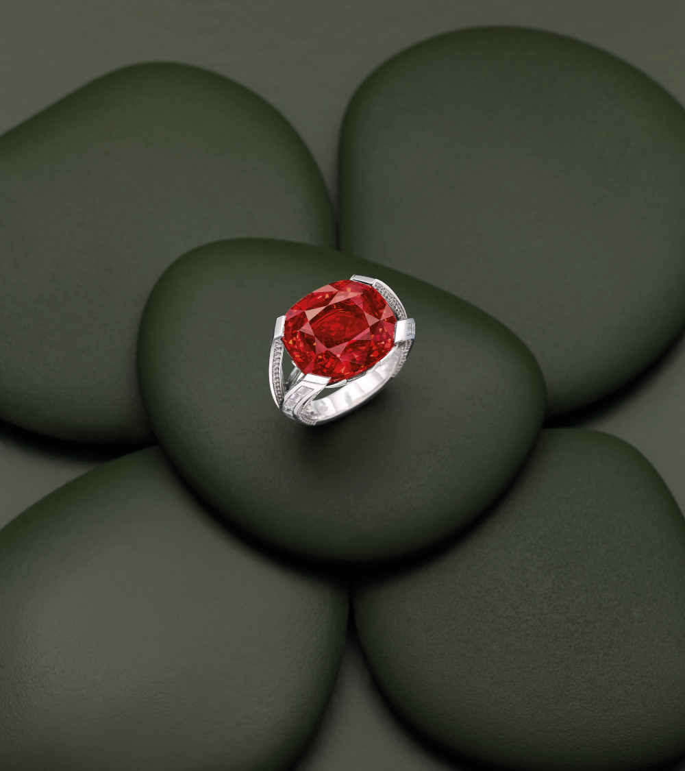 Red Spinel Louis Vuitton ring