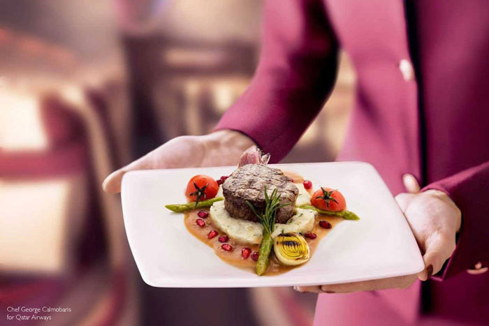 Chef George Calombaris for Qatar Airways