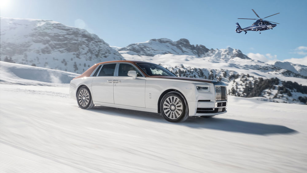 Rolls-Royce in St. Moritz and Courchevel