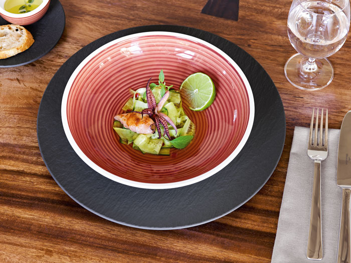 Villeroy & Boch Manufacture Rock Gris Rouge collections 2018